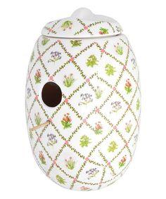 Loving this Botanicae Ceramic Birdhouse on #zulily! #zulilyfinds