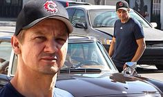 Jeremy Renner cruises around West Hollywood in a classic Mercedes  28 Oct 2014