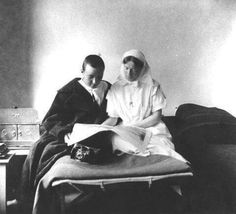 Grand Duchess Olga Alexandrovna Romanova as a Red Cross nurse.A♥W