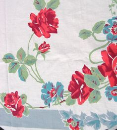 Vintage Kitchen Tablecloth