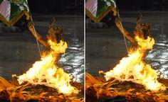 Porta-bandeira da Mocidade 'pega fogo' durante desfile na Sapucaí