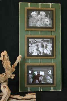 Triple Green Distressed Wood Frame