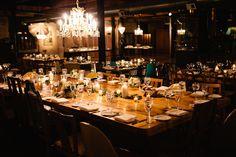 Rustic Wood Wedding Tabletop at Salvage One