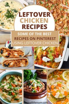 Delish and easy to . throw together leftover chicken recipes. Recipes using a rotisserie chicken and chicken recipe dinners you can throw on the table in no time #chickenrecipes #leftoverchicken #dinnerrecup #cookedchicken #mealswithchicken #chickenrecio #chickencassaroles #chickendelish # Quick Family Dinners, One Pot Dinners, Family Meals, Easy Dinners, Recipes Using Rotisserie Chicken, Leftover Chicken Recipes, Fun Easy Recipes, Delicious Dinner Recipes, Buffalo Chicken Sandwiches