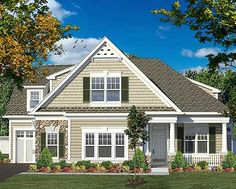3 bed clapboard and shingle House Plan 19600JF gives you just under 2,400 sq. ft. of living space.