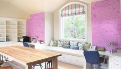 Dry Erase Paint for the Home | IdeaPaint   ....many uses such as top of kids desks, walls around desk, mud room for reminders