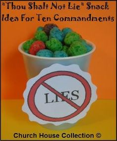 Thou Shalt Not Lie Snack Idea For The Ten Commandments for kids in Sunday school or Children's Church. This is the 9th commandment. Thou Shalt Not Bear False Witness Against Thy Neighbor.
