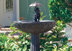 Create a focal point in your garden with a bubbling fountain. Check out these five tips to choosing the right fountain for your space..