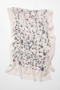 broken grid scarf at anthropologie