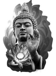 Buddha and Lotus Flower Tattoo Design. - Buddha and Lotus Flower Tattoo Design. You are in the right place about Buddha and Lotus Flower Tatt - Buddha Tattoos, Japanese Flower Tattoo, Buddha Tattoo Sleeve, Flower Tattoo Designs, Buddha Tattoo Design, Asian Tattoos, Buddha, Japanese Tattoo, Tattoo Designs