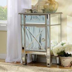 Silver Mirrored Nightstand | Kirkland's