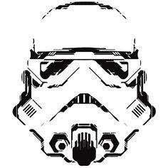 vinilos paredes star wars vinilo casco stormtrooper, original elegante