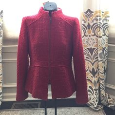 Zara red tweed blazer Just back from the cleaners ♦️Make offer through the Offer Button♦️As I will only be accepting reasonable offers through the offer button.  Please ask any questions before buying as all sales final.  Or if you prefer to bundle to pay one shipping charge. 20% off two items 25% off 3 items or more. No Trades or PayPal accepted ALL ITEMS COME FROM SMOKE FREE HOME Zara Jackets & Coats Blazers