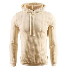 03a4413b8d6857 Jinshida Men s Square Pattern Quilted Hoodie Sweatshirt Apricot M