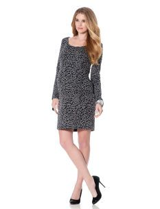 Motherhood Maternity Long Sleeve Pencil Fit Maternity Dress