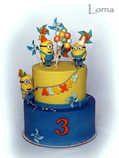 Minions Cake by Lorna