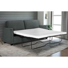 Signature Sleep Casey Sleeper Sofa, Gray Velvet, Multiple Sizes
