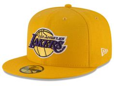 Los Angeles Lakers New Era NBA Solid Team 59FIFTY Cap #NBAFitted