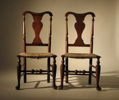 Queen Anne side chairs, c. 1780 - 1800