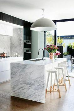 marple worktop with black kitchen