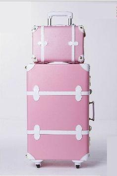 "Cute Vintage Orange 20"" Carry-On Wheeled Luggage & 12"" Tote Bag Set suitcase #Sanya"
