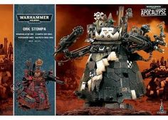 Warhammer 40k Ork Stompa Titan, massive new Warhammer 40k Ork model. Can be equipped in different ways and has over 230 components. Ultimate Ork weapon for your Ork army.