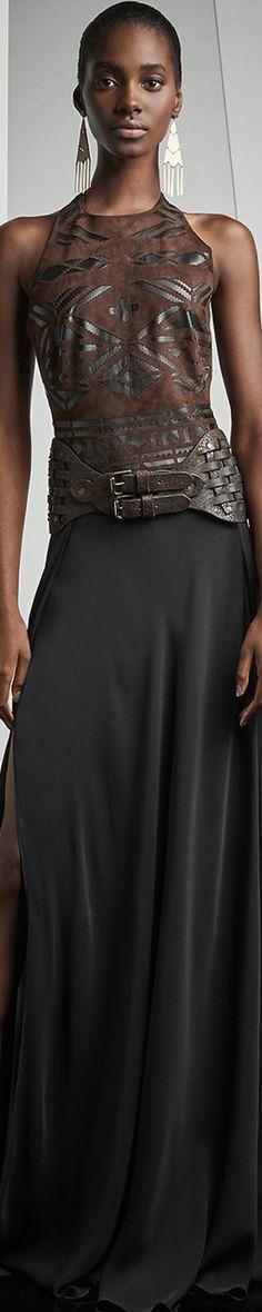 Ralph Lauren Anneliese Silk Halter Gown