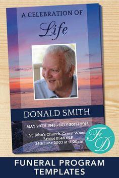 1239 Best Funeral Programs for Men   Obituary Templates & Prayer