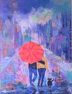 Paseando por NY Acrilico sobre lienzo  Carmen Alicia Navarro Painting, Canvases, Sculptures, Art, Painting Art, Paintings, Painted Canvas, Drawings