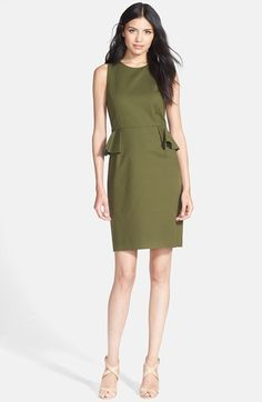kate spade new york peplum stretch cotton sheath dress available at #Nordstrom