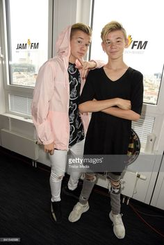 Marcus Martinus are seen during their visit to 936 JAM FM on September 1 2017 in Berlin Germany Berlin Photos, M Photos, Bae, Love Twins, I Go Crazy, Great Friends, Music Artists, September 1, Fangirl