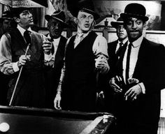 Robin And The Seven Hoods Playing Pool in Suit Premium Art Print