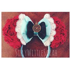 Alice in Wonderland INSPIRED Mouse Ears!   please note this comes with the stop watch middle   Perfect for your favorite character filled theme parks, raves, concerts, conventions and more!  All Items are Hand Made by myself, and they are all made to order   Hand made, products may slight...
