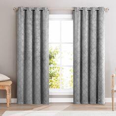 HLC.ME Redmont Lattice Blackout Grommet Curtain Panel