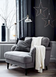 grey winter mood (via Livet Hemma – IKEA) (my ideal home.) - grey winter mood (via Livet Hemma – IKEA) (my ideal home…) grey winter mood (via Livet Hemma – IKEA) Ikea Living Room, Living Room Chairs, Dining Chairs, Lounge Chairs, Beach Chairs, Ikea Chairs, Dining Rooms, Retro Home Decor, Home Decor Trends