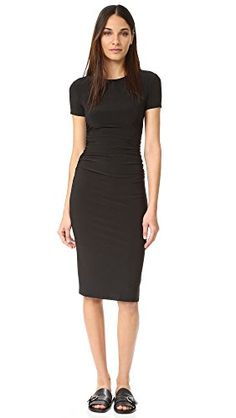 KAMALIKULTURE Womens Kamali Kulture Shirred Dress Black Large  -One Stop Apparel For Women *** Read more reviews of the product by visiting the link on the image.