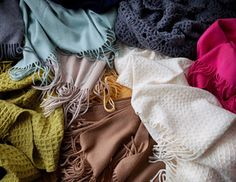 Cozy Indulgence - Lovely Throws in Cashmere, Wool & More