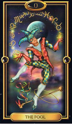 Harlequin | The Fool, Gilded Tarot Find out what the Fool means for you: www.tarotbyemail.com