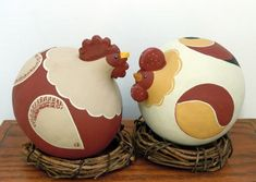 2 Chicks make from gourds