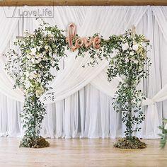 trendy Ideas for wedding ceremony backdrop outdoor chuppah Wedding Arch Greenery, Ceremony Arch, Wedding Ceremony Decorations, Wedding Flowers, Wedding Backdrops, Diy Flowers, Wedding Ceremonies, Decor Wedding, Wedding Aisles