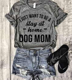 Stay At Home Dog Mom...Heather Grey Unisex Unbasic Tee Funny
