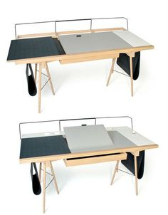 """Homeworkers"" can customize this clever desk : TreeHugger"