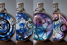 Design Your Own Gallifreyan Pendant Necklace by kaieldesigns