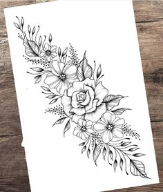 Tattoo Femeninos, Knee Tattoo, Cover Tattoo, Hawaii Flower Tattoos, Beautiful Flower Tattoos, Badass Tattoos, Body Art Tattoos, Hand Tattoos, Floral Tattoo Design