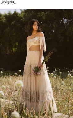 SUMMER DANDELION Our off shoulder tasseled blouse with signature style four layers lehenga looks so soothing for summer weddings. this summers choose white for your functions. Indian Dresses, Indian Outfits, Indian Clothes, Lengha Blouse Designs, Ethenic Wear, Wedding Saree Blouse, Indian Style, Indian Wear, Lengha Choli