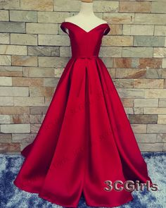 Prom dress 2016, Pretty wine red off shoulder long prom dress, ball gown, mother of bride dress from #3cgirls #weddings -> http://www.3cgirls.com/#!product/prd1/4241133635/pretty-wine-red-off-shoulder-long-bridemaid-dress