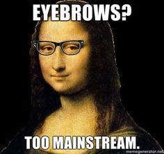 Hipster Mona Lisa