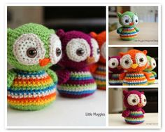 Cute Owls by Little Muggles - ANNEMARIES CROCHET BLOG ♥ ANNEMARIES HAAKBLOG