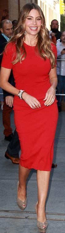 Sofía Vergara: Shirt and skirt – Michael Kors  shoes – Charlotte Olympia