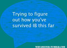 For people doing the IB: How far are you?